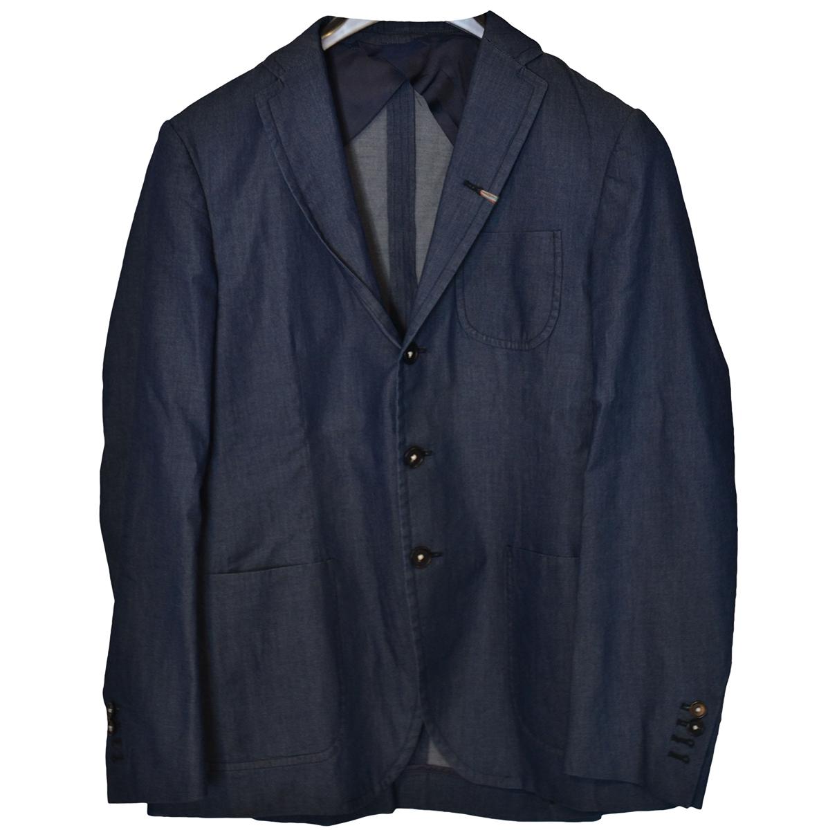 Non Signé / Unsigned \N Blue Cotton jacket  for Men 48 IT
