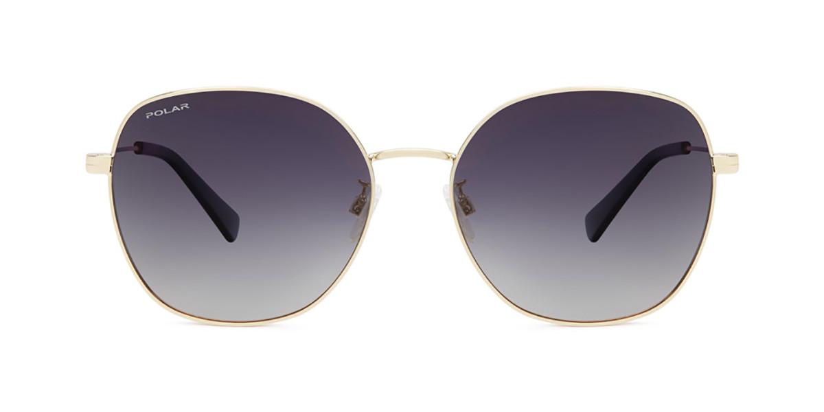 Polar PL Claire Polarized 02 Men's Sunglasses Gold Size 59