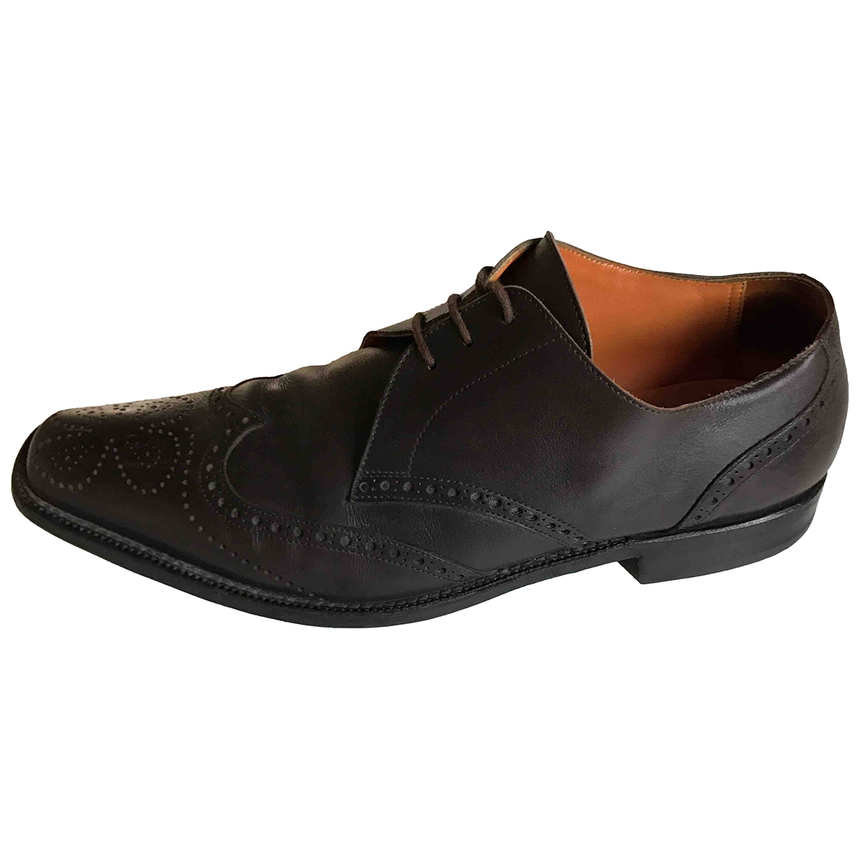 Etro \N Brown Leather Lace ups for Men 43 EU