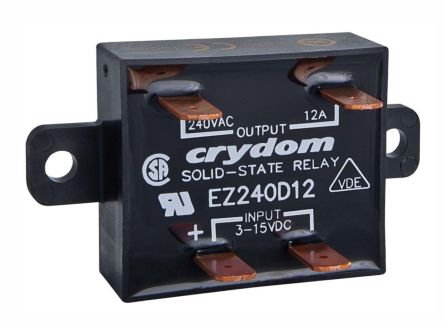 Sensata / Crydom 12 A rms Solid State Relay, Zero Crossing, Panel Mount, SCR, 280 Vrms Maximum Load