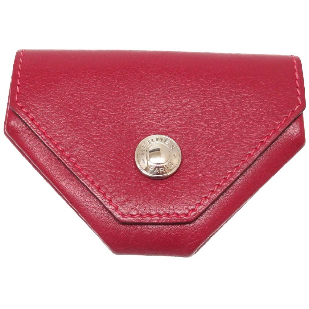 Hermes - Petite maroquinerie 24 pour femme en cuir - rouge