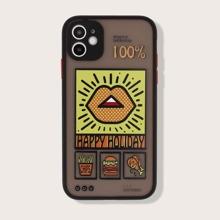 1pc Cartoon Graphic iPhone Case