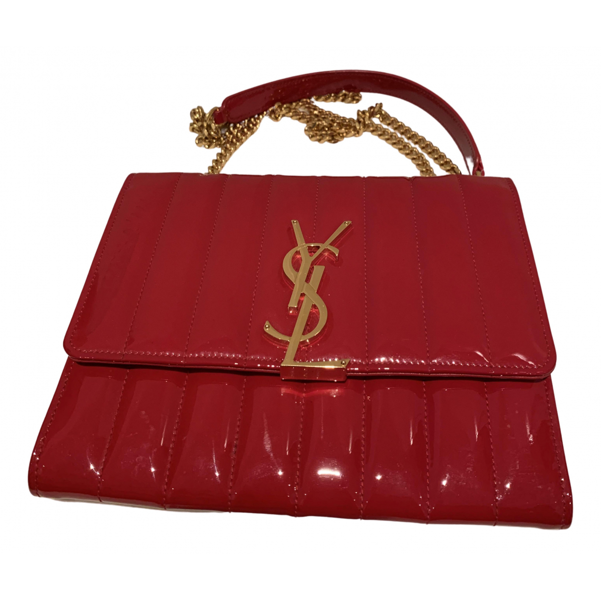 Saint Laurent Vicky Red Patent leather handbag for Women N