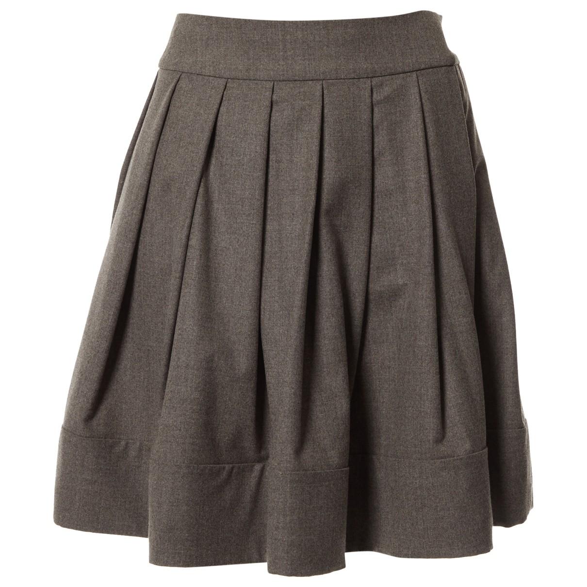 Celine - Jupe   pour femme en laine - gris