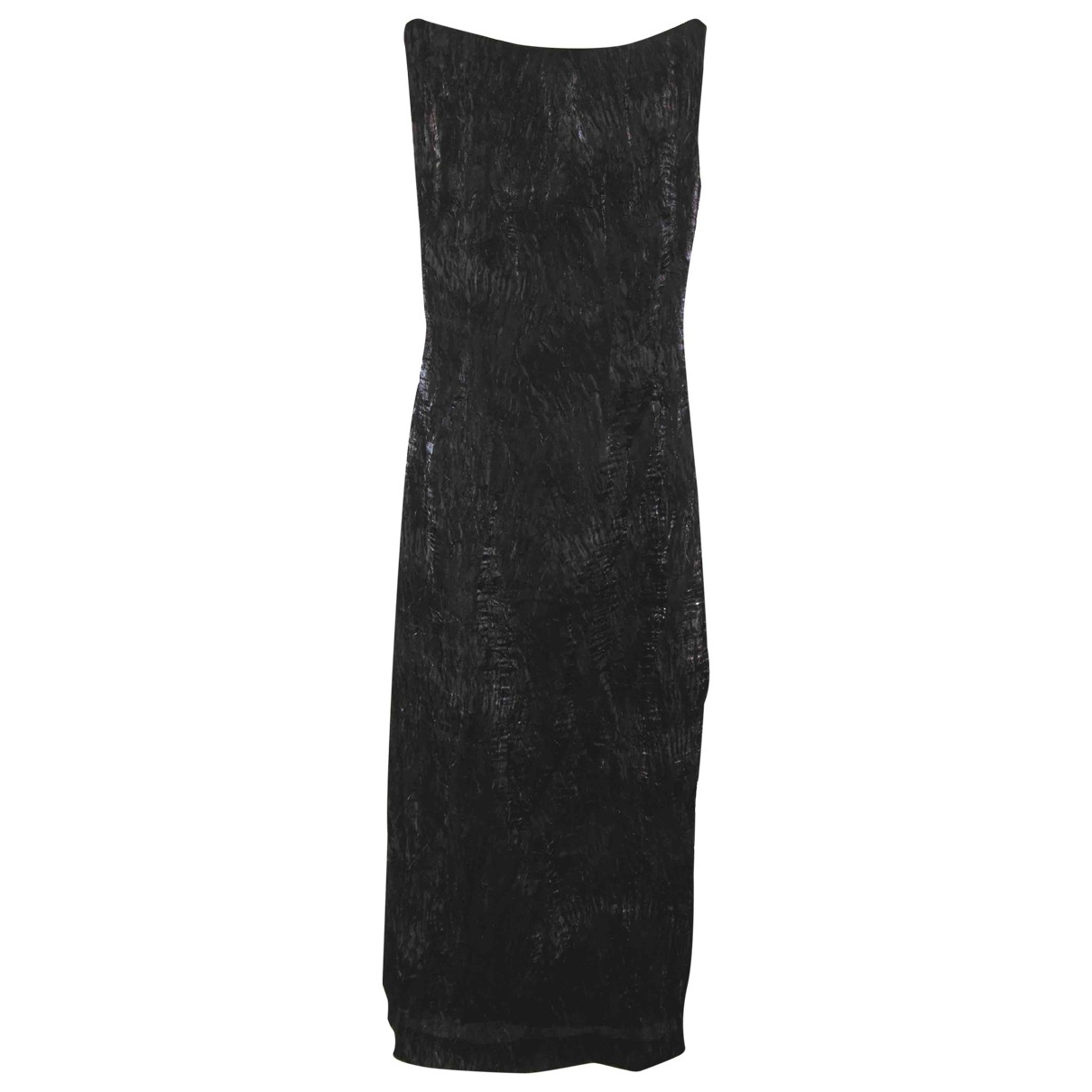 Pedro Del Hierro \N Kleid in  Schwarz Exotenleder