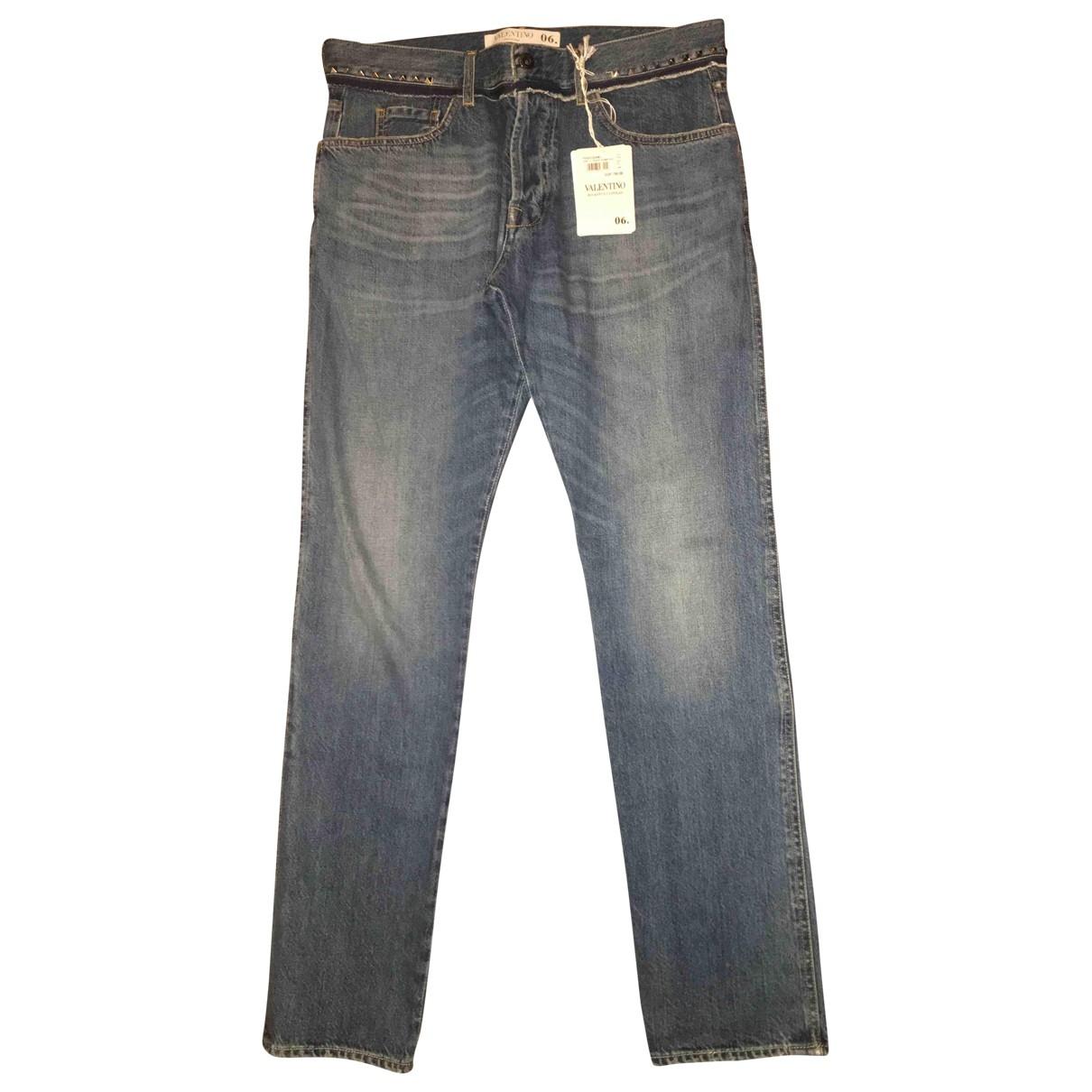 Valentino Garavani \N Blue Cotton Jeans for Men 32 US