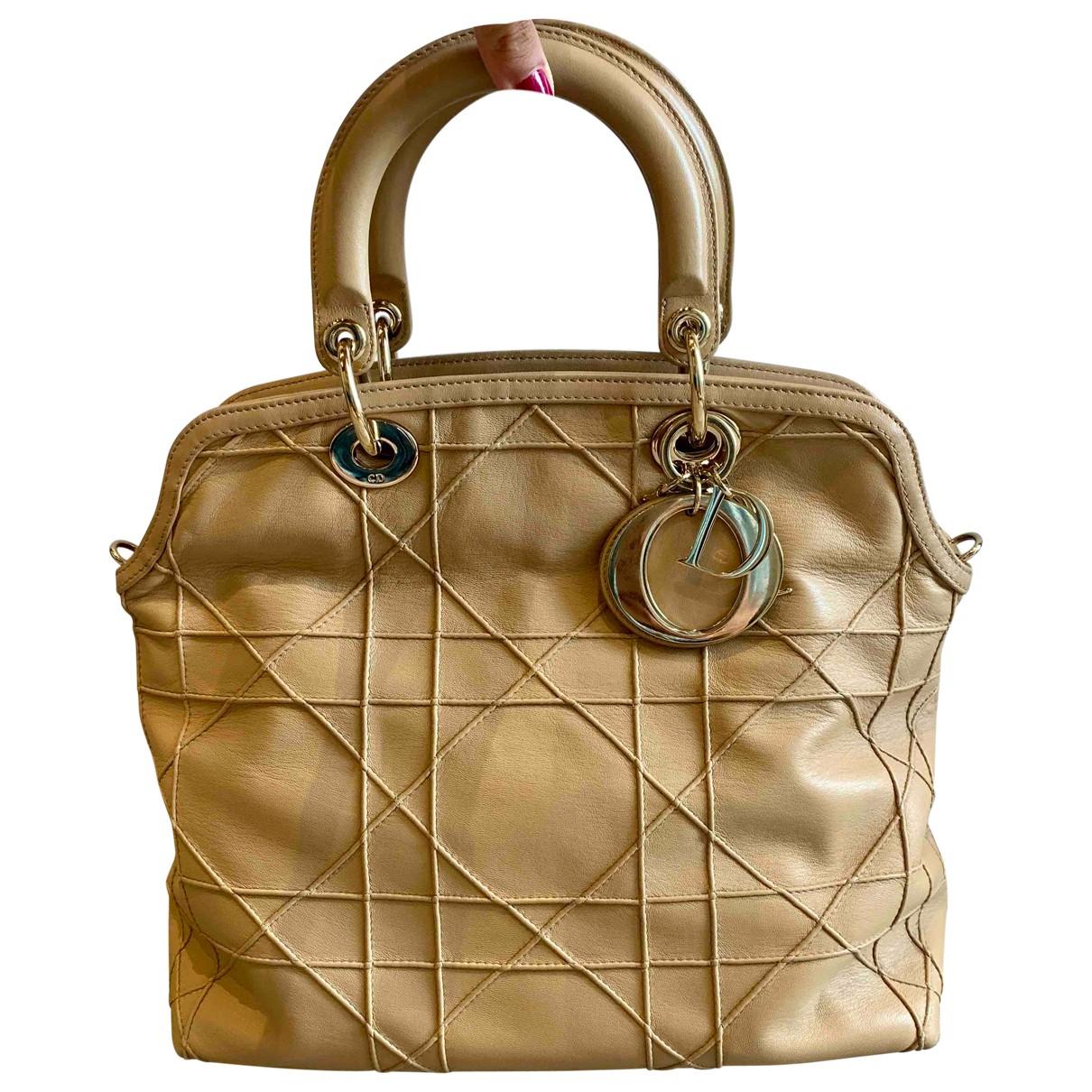 Dior Granville Gold Leather handbag for Women \N