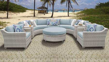 Fairmont Collection FAIRMONT-08e-SPA 8-Piece Patio Set 08e with 1 Armless Chair   2 Cup Table   1 Round Coffee Table   2 Curved Armless Chair   2