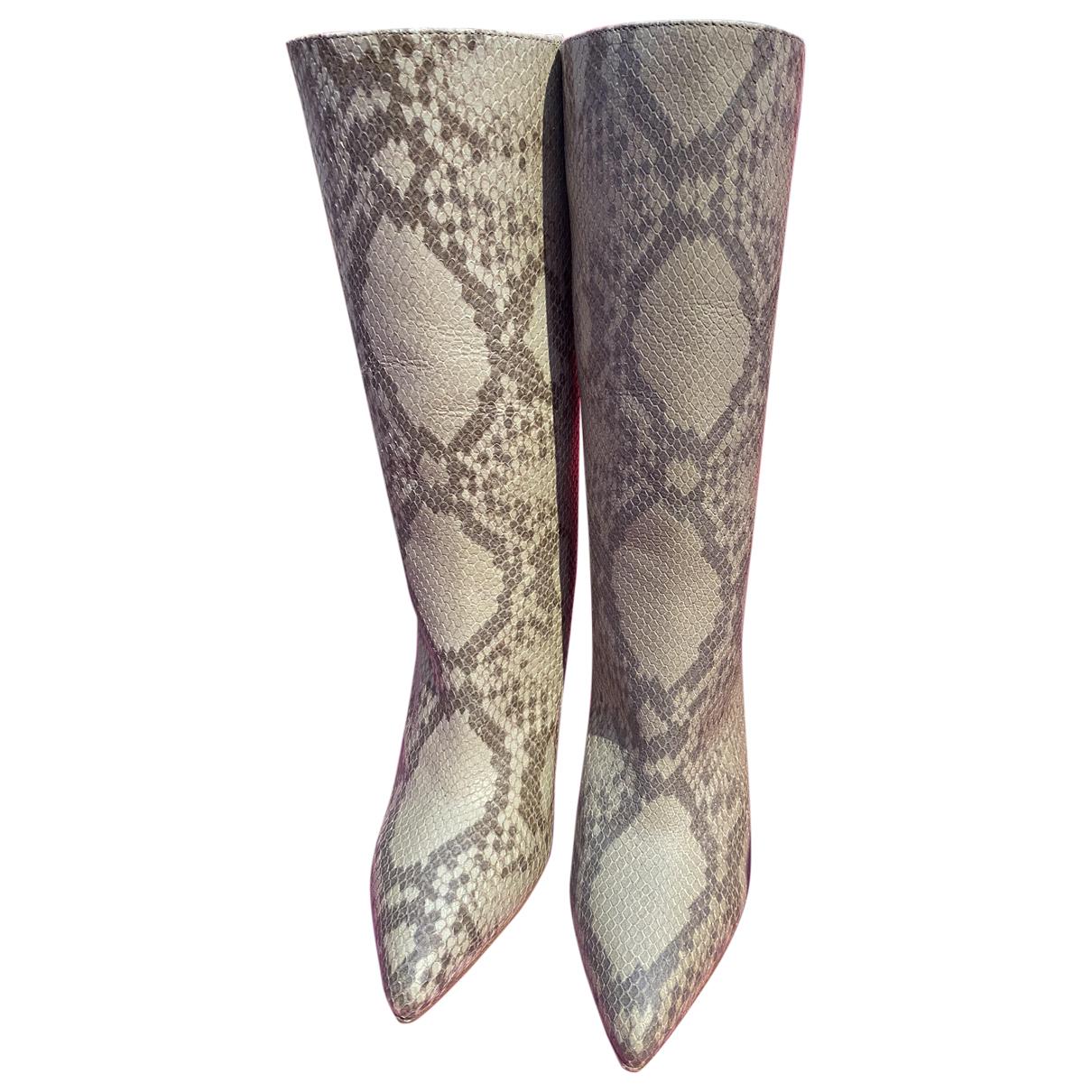 Paris Texas - Bottes   pour femme en cuir - gris