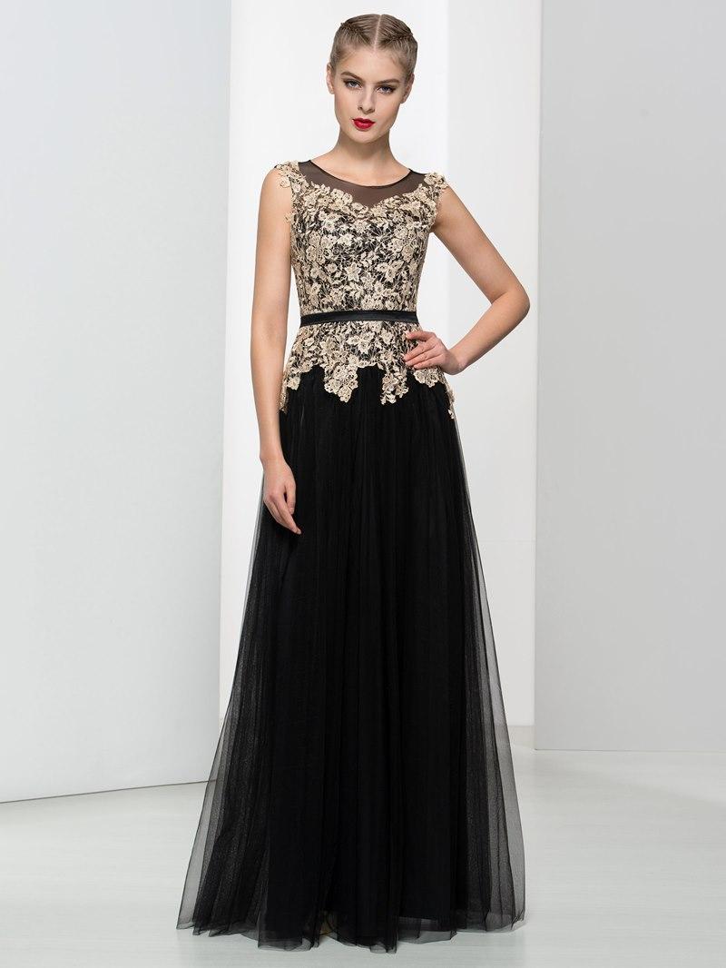 Ericdress A-Line Straps Lace Button Long Evening Dress