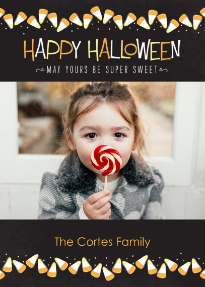 Halloween Photo Cards 5x7 Cards, Premium Cardstock 120lb, Card & Stationery -Candy Corn Sprinkles