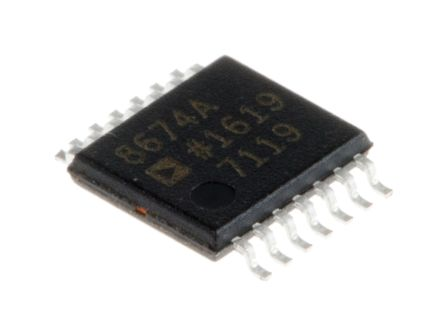 Analog Devices AD8674ARUZ , Op Amp, 10MHz, 14-Pin TSSOP