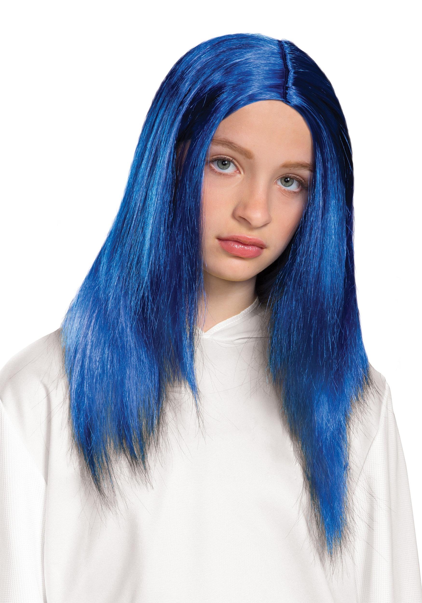 Billie Eilish Blue Kids Wig