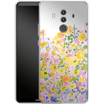 Huawei Mate 10 Pro Silikon Handyhuelle - Flower Fields Sunshine von Amy Sia
