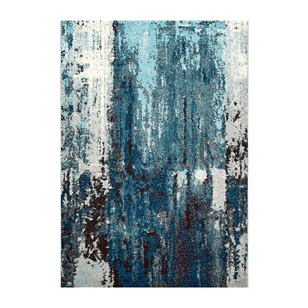 nuLoom Abstract Haydee Rectangular Area Rug, One Size , Blue