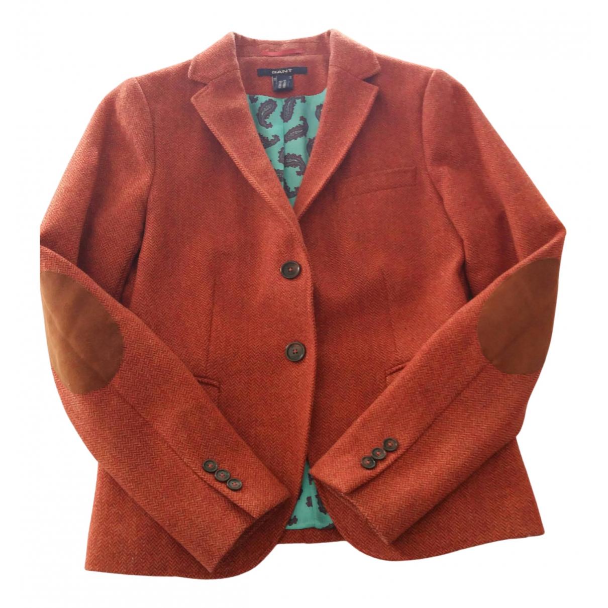 Gant - Veste   pour femme en laine - orange