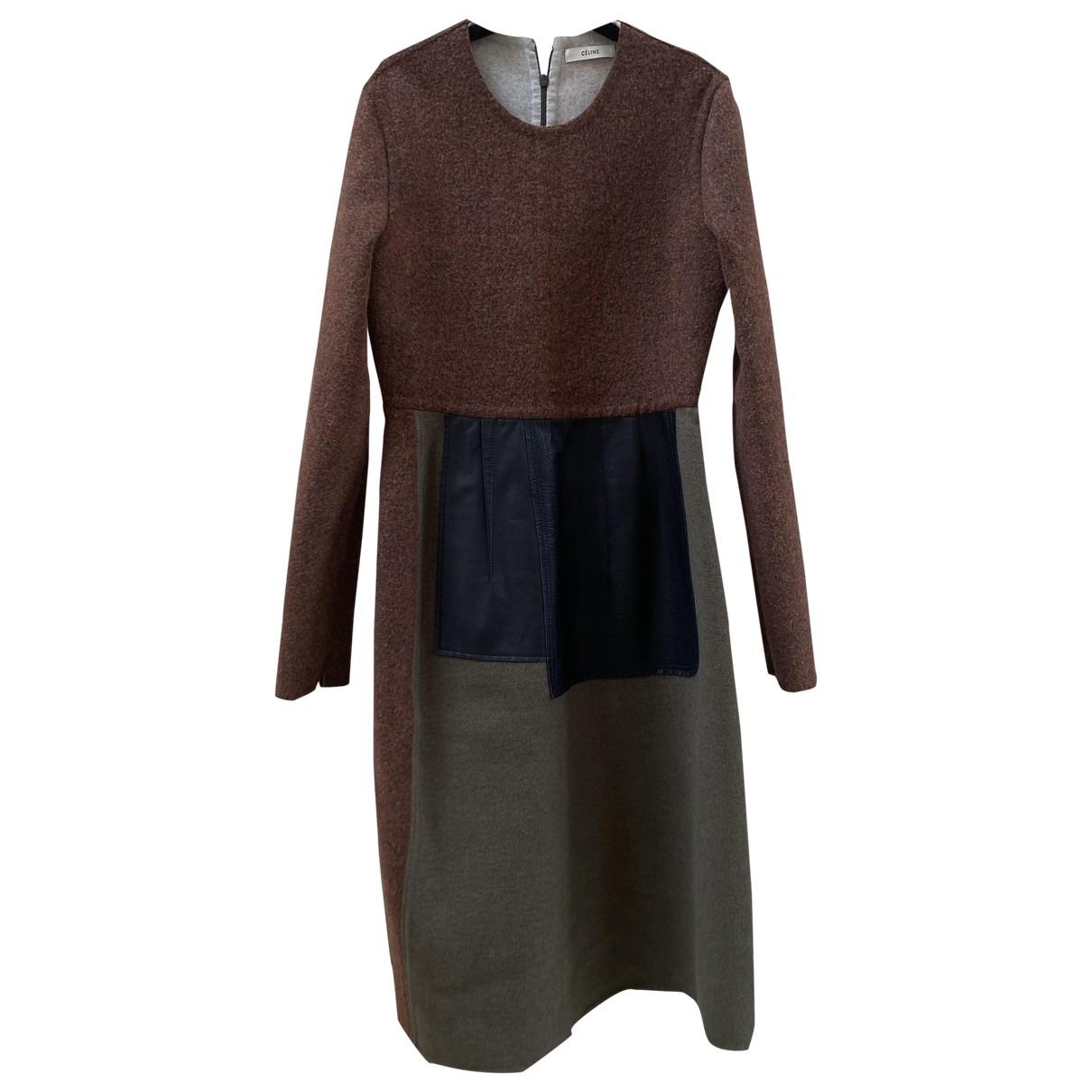 Celine \N Kleid in  Kamel Wolle