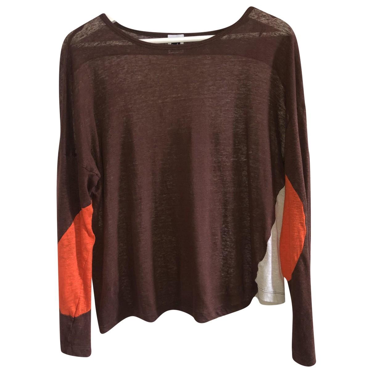 M Missoni - Top   pour femme en coton - marron