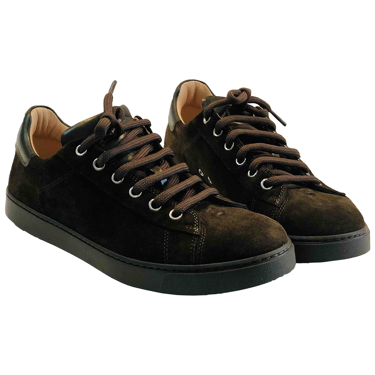 Gianvito Rossi \N Sneakers in  Braun Veloursleder