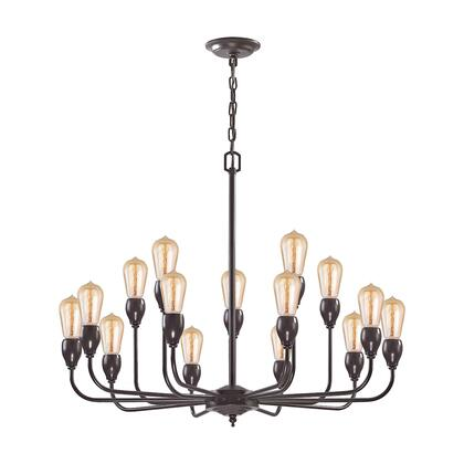 31984/10+5 Vernon 15-Light Chandelier in Oil Rubbed