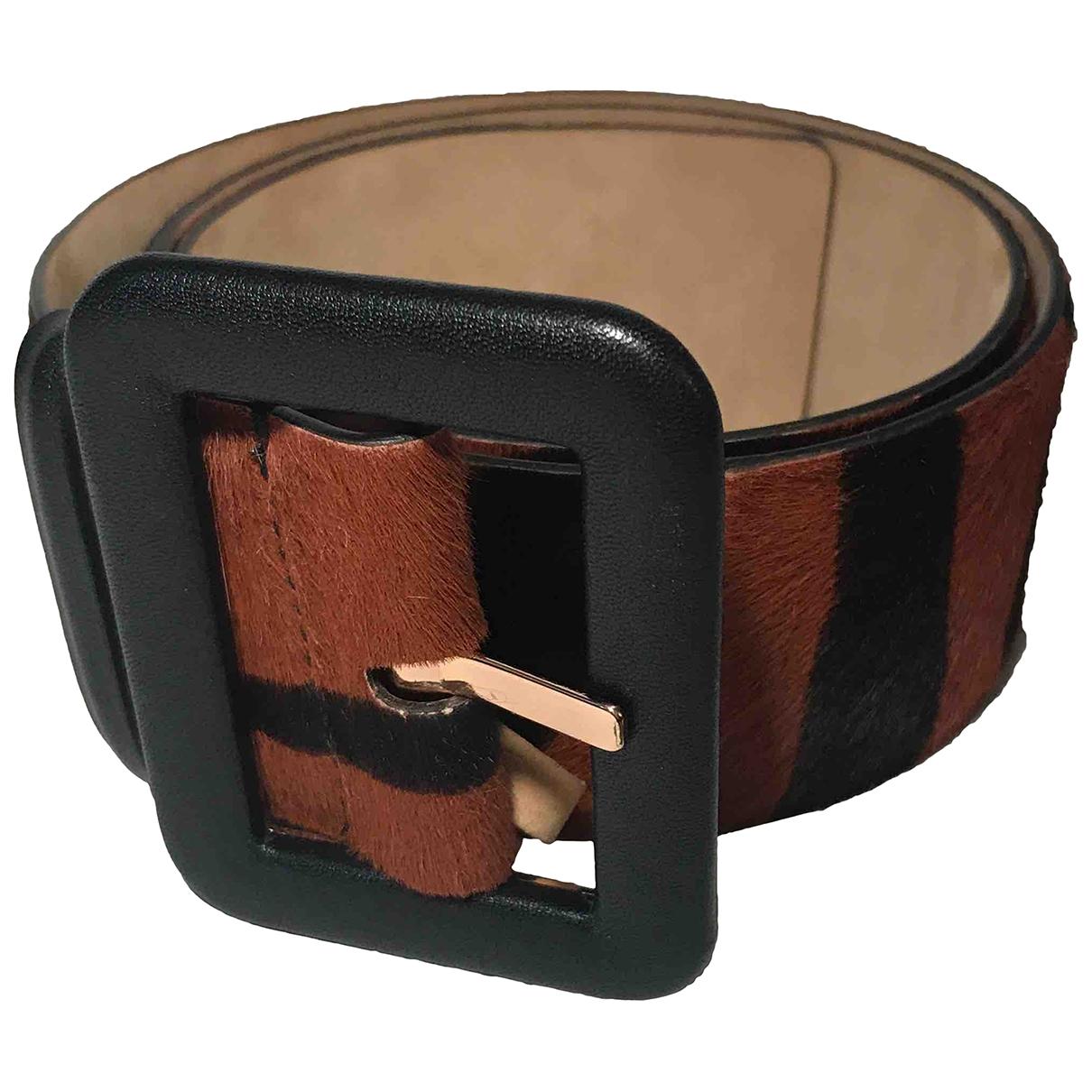 Roberto Cavalli \N Brown Leather belt for Women 70 cm