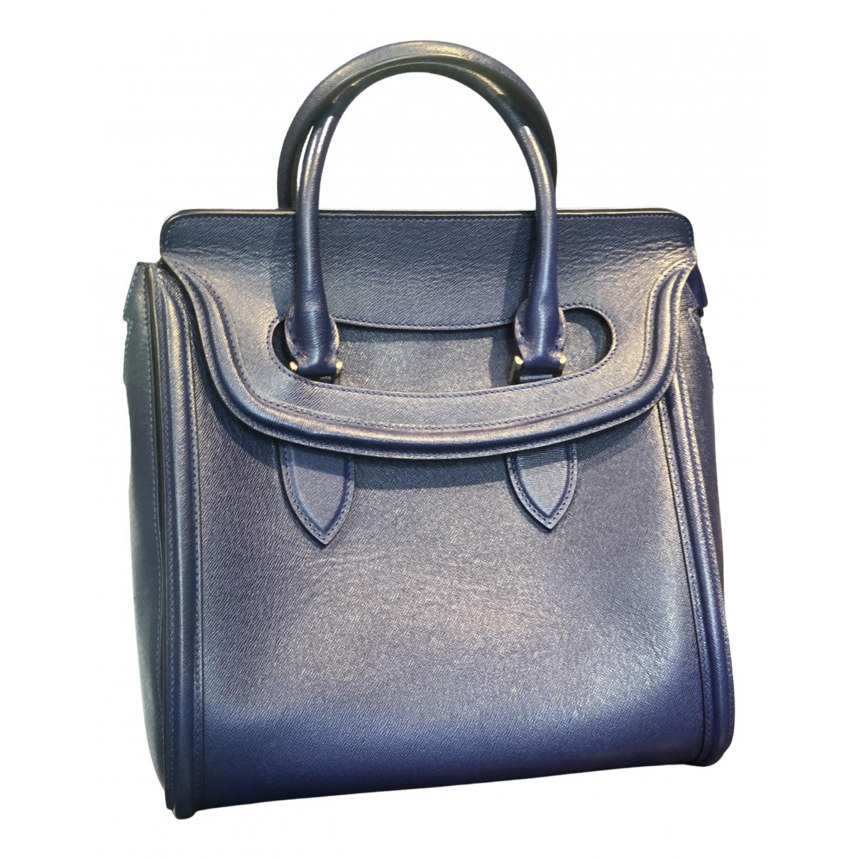 Alexander Mcqueen Heroine Blue Leather handbag for Women N