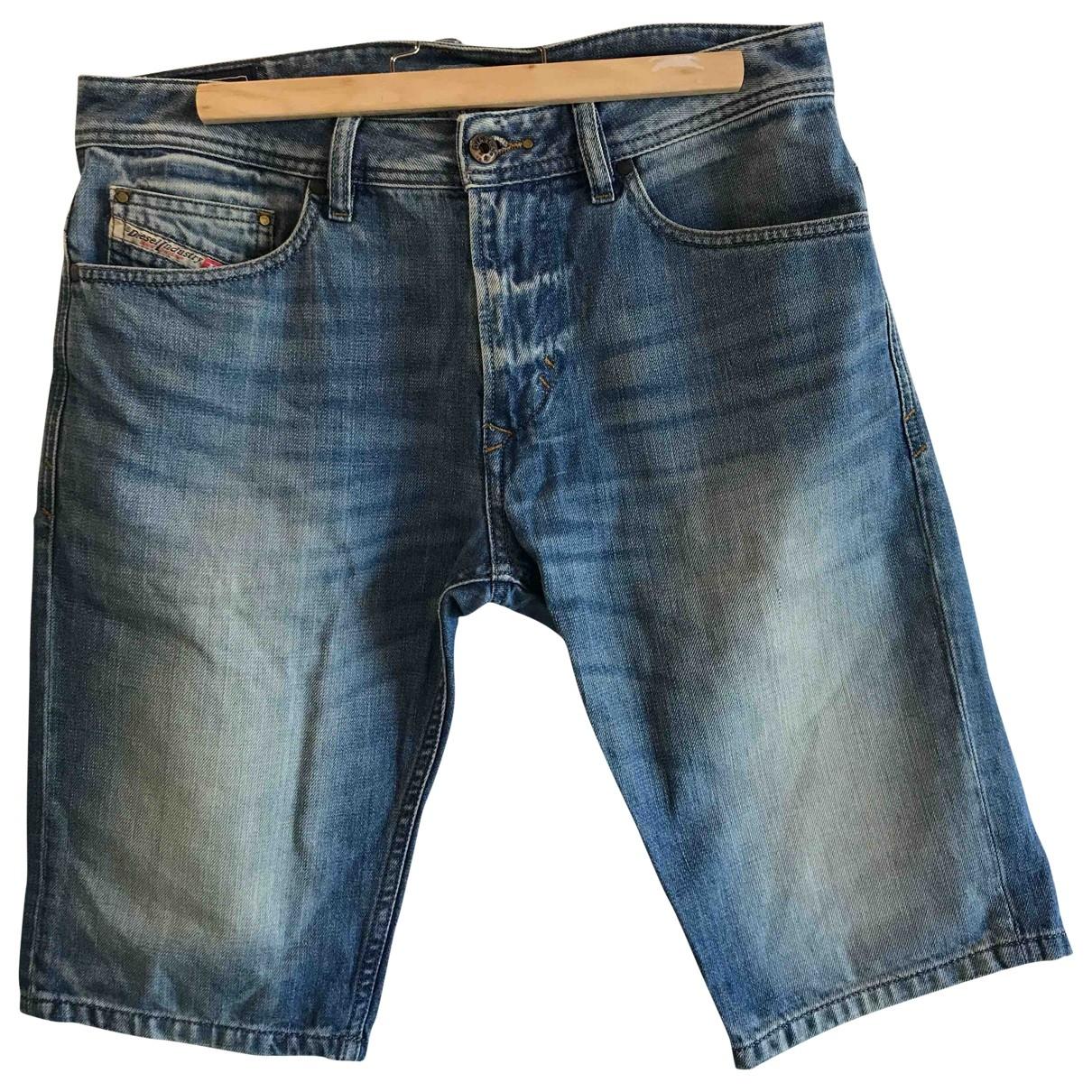 Diesel \N Blue Denim - Jeans Shorts for Men 30 UK - US
