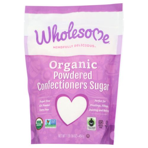 Organic Powdered Confectioners Sugar 16 Oz by Wholesome