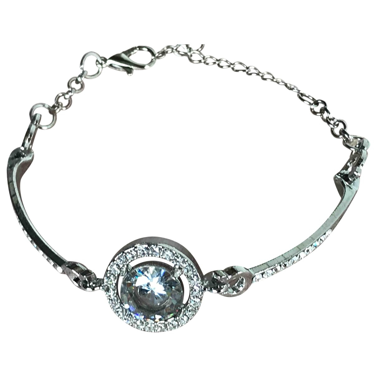 Non Signe / Unsigned \N Armband in  Silber Metall