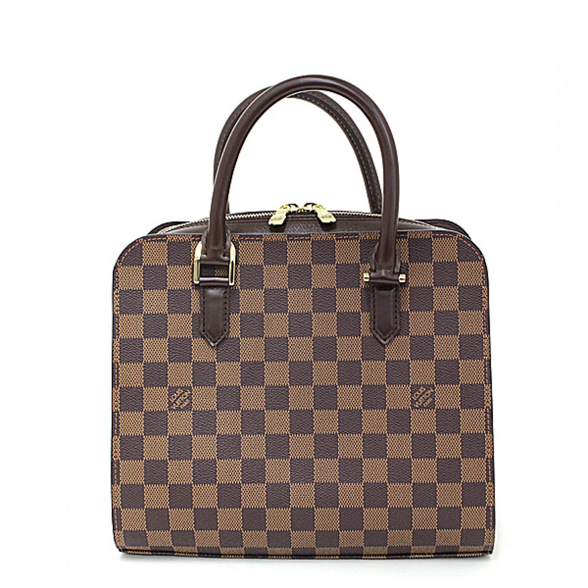 Louis Vuitton Pont Neuf Vintage  Handtasche in  Braun Leinen