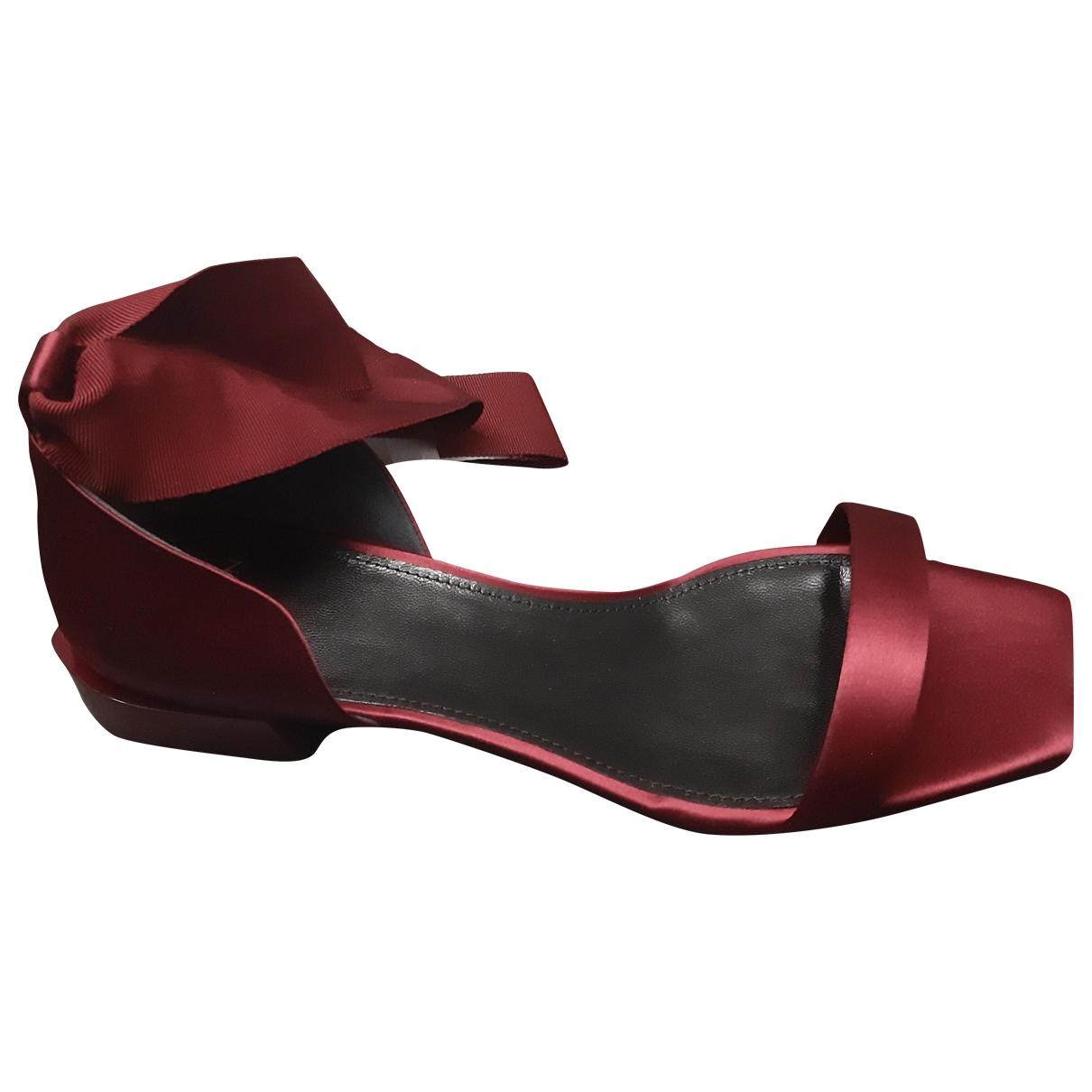 Lanvin - Sandales   pour femme en toile - rouge