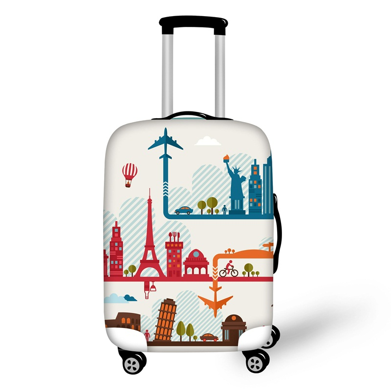 Attractions View Travel Luggage Cover Suitcase Protector 19 20 21