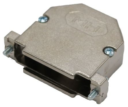 MH Connectors , MHDU45 Zinc Angled D-sub Connector Backshell, 25 Way, Strain Relief