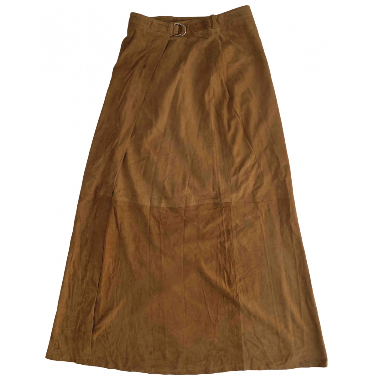 Non Signé / Unsigned Hippie Chic Brown Pony-style calfskin skirt for Women 36 IT