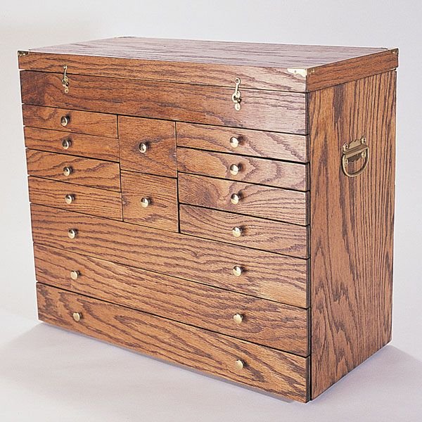 Woodworking Project Paper Plan to Build Precision Tool Chest, Plan No. 788