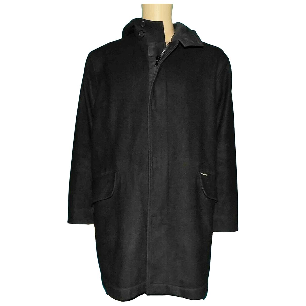 Faconnable - Manteau   pour homme en laine - noir