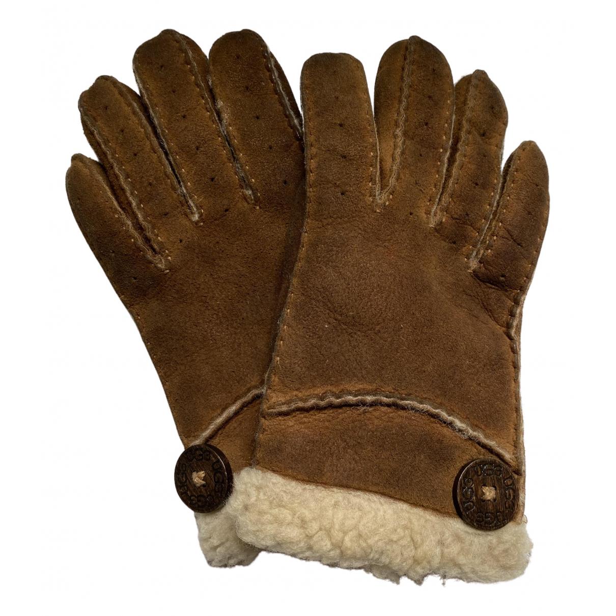 Ugg \N Handschuhe in  Kamel Veloursleder