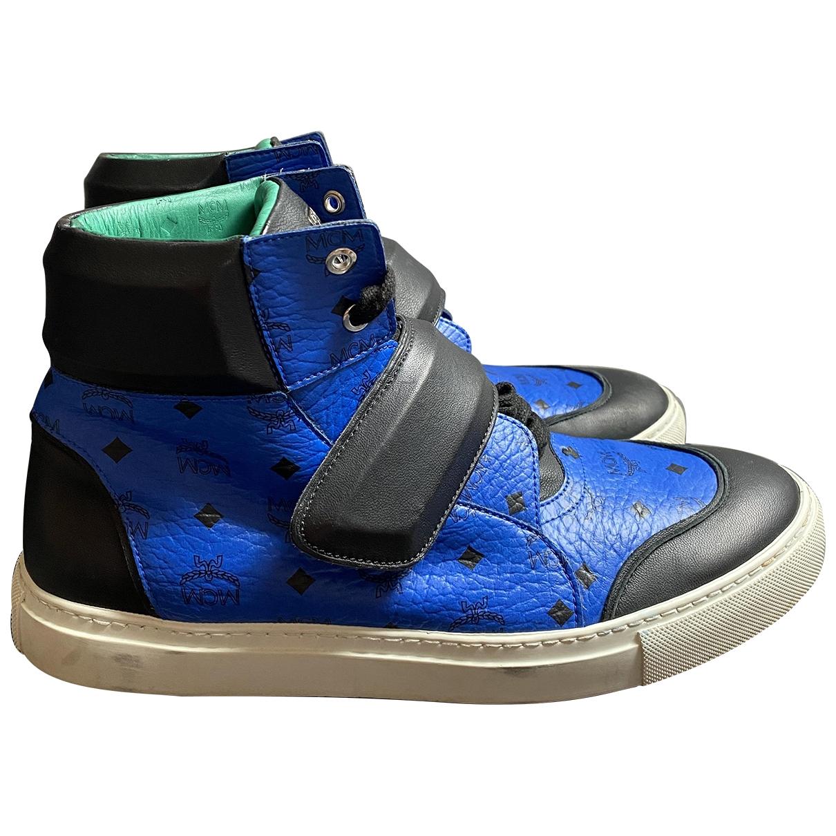 Mcm \N Sneakers in  Blau Leder