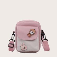 Girls Cartoon Graphic Crossbody Bag