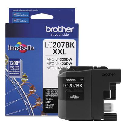 Brother LC207BKS - LC207 authentique cartouche encre noire Innobella (LC207BK), tres haut rendement