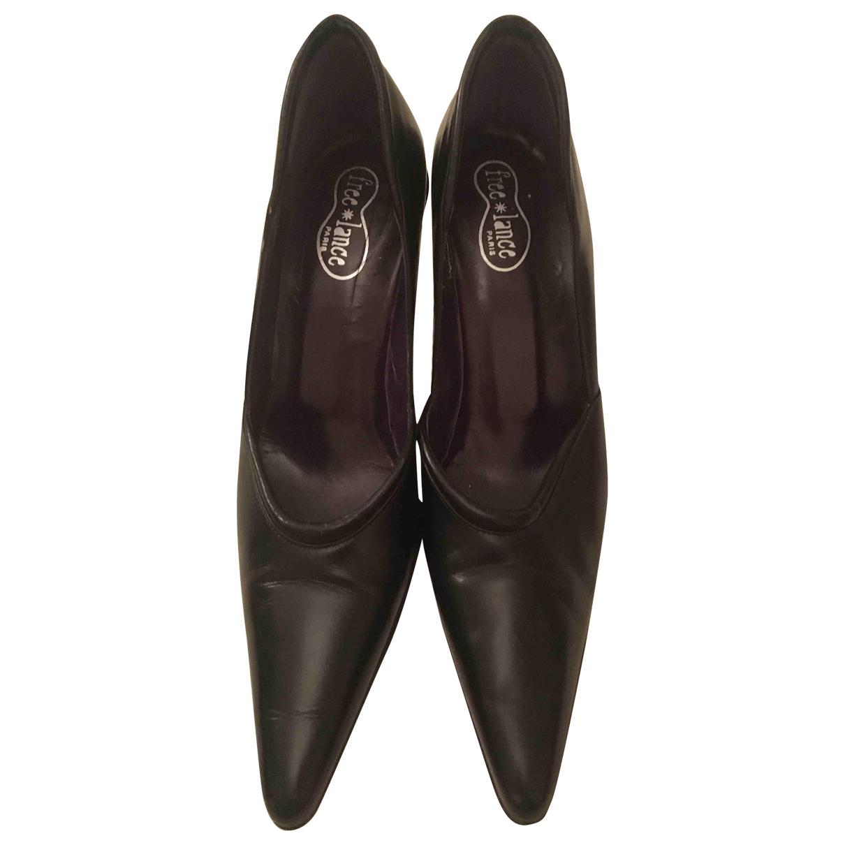 Free Lance \N Black Leather Heels for Women 39 EU