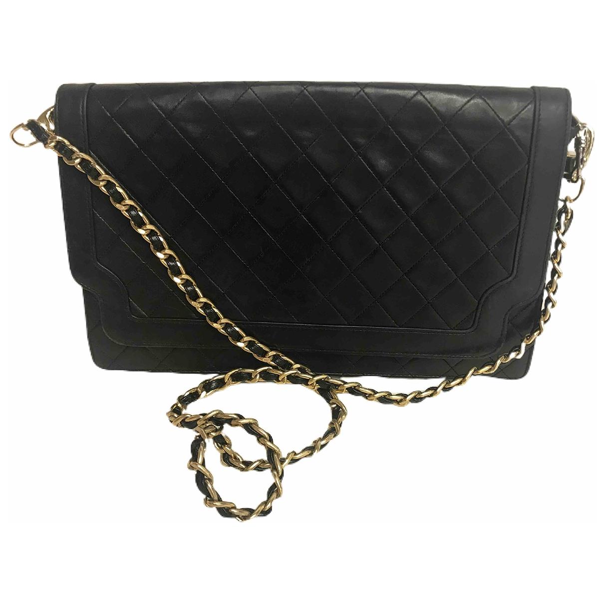 Chanel - Pochette   pour femme en cuir - noir