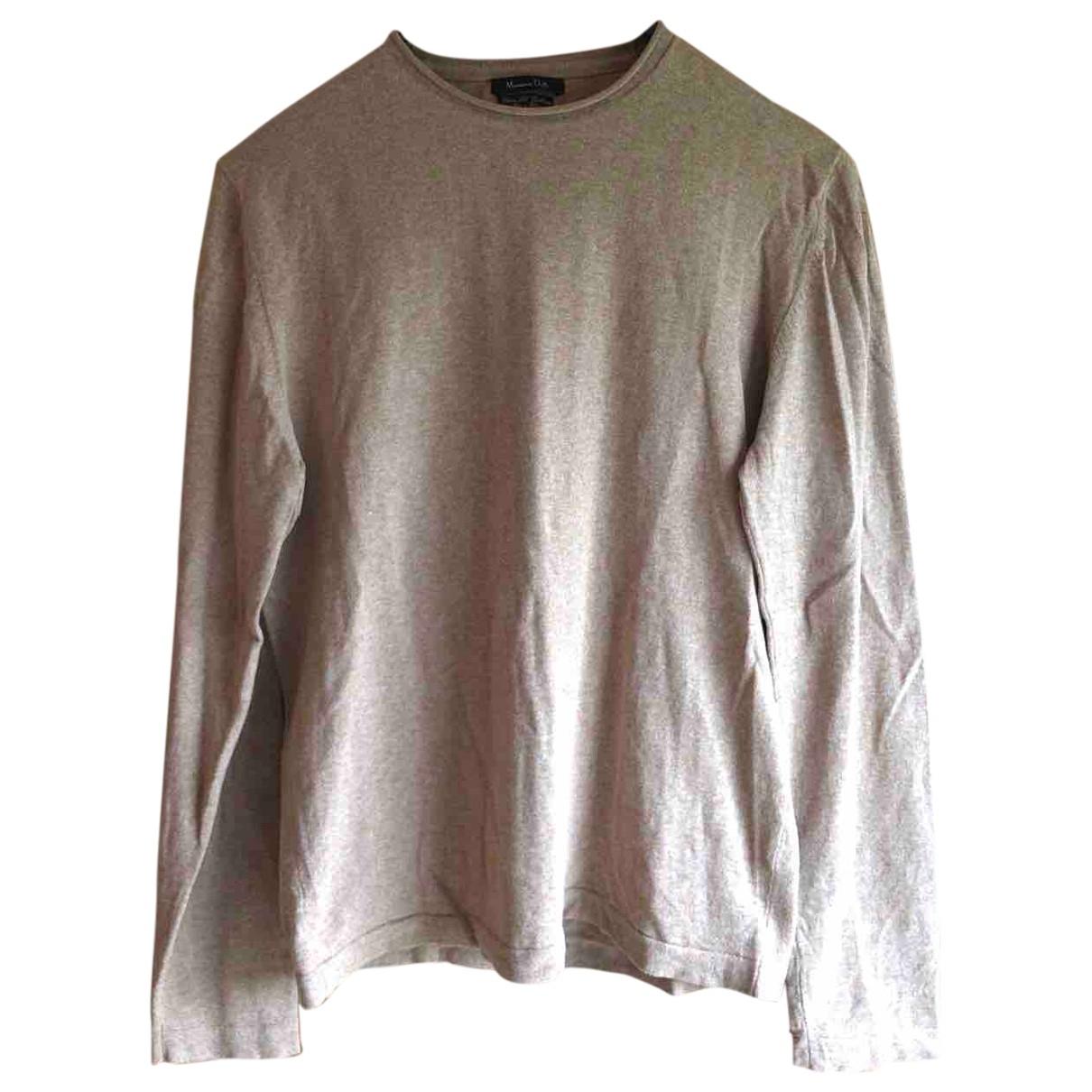 Massimo Dutti - Pulls.Gilets.Sweats   pour homme en coton - beige