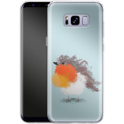 Samsung Galaxy S8 Plus Silikon Handyhuelle - Cloudy Robin von caseable Designs