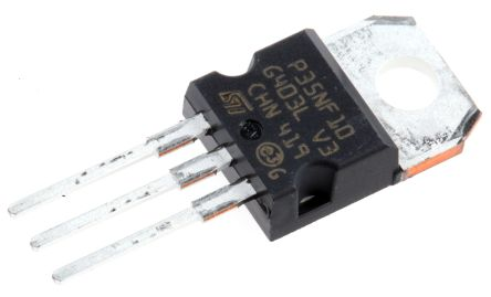 STMicroelectronics N-Channel MOSFET, 40 A, 100 V, 3-Pin TO-220  STP35NF10 (5)