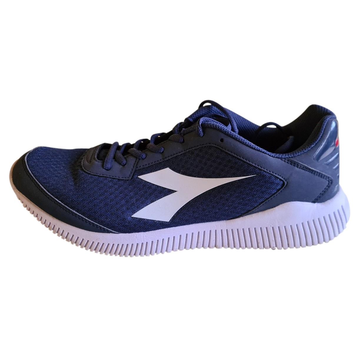 Diadora - Baskets   pour homme en toile - bleu