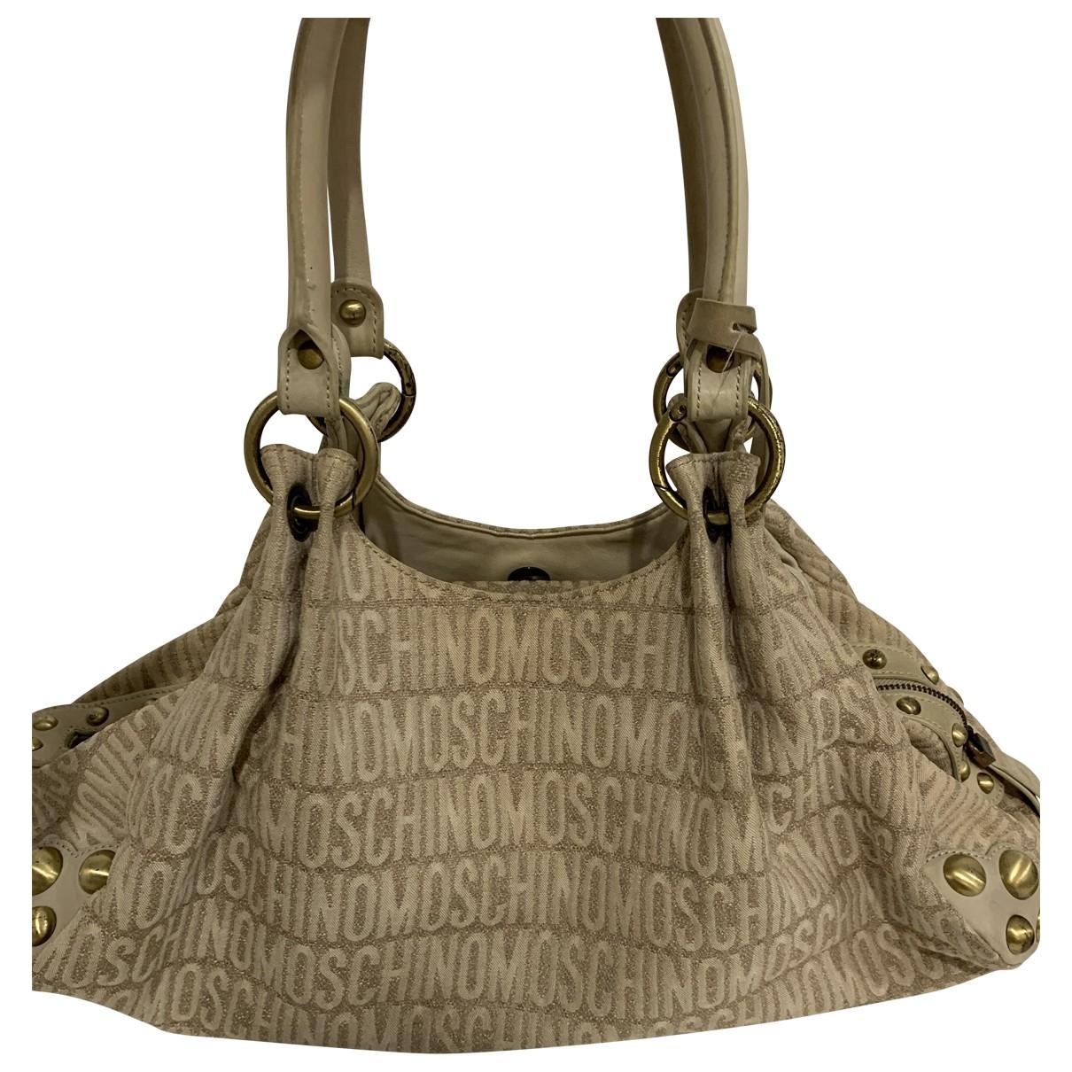 Moschino \N Beige Cloth handbag for Women \N
