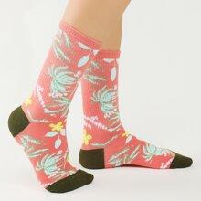 Plant Pattern Socks