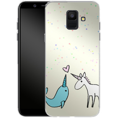 Samsung Galaxy A6 Silikon Handyhuelle - Two Horns von caseable Designs