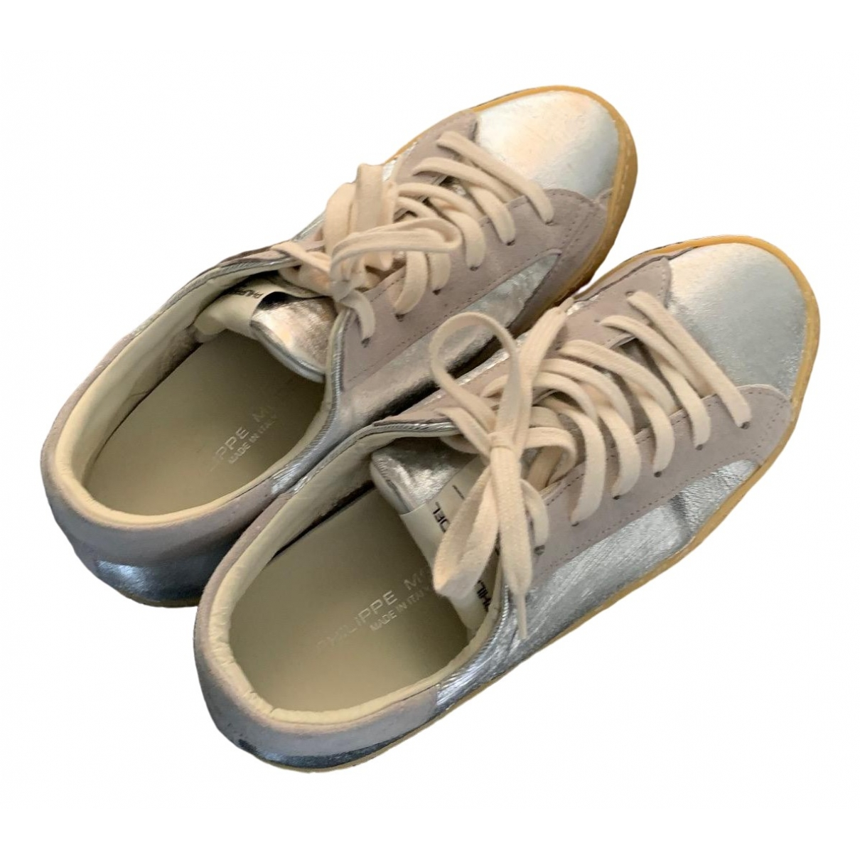 Philippe Model \N Silver Leather Trainers for Women 37 EU